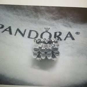 NWT PANDORA Double Cats Twins Charm Silver